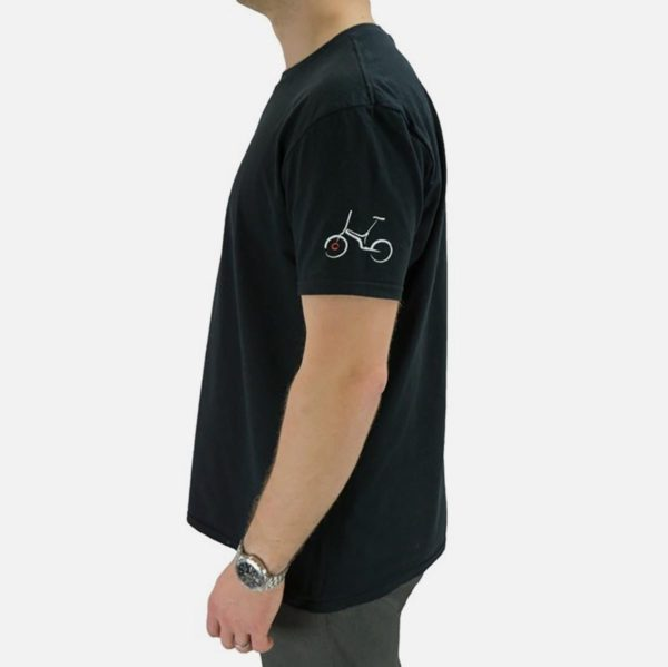 Gocycle black t shirt side view