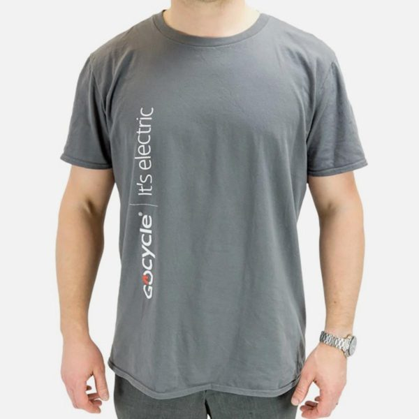 Gocycle grey t shirt front view