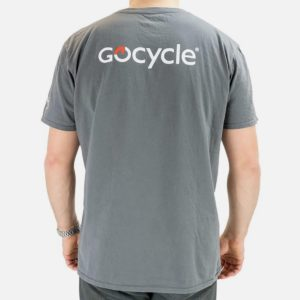 Gocycle grey t shirt back view