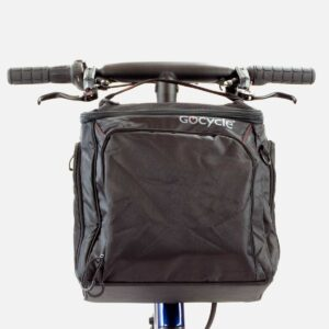 Gocycle front pannier bag fixed on a Gocycle G4 electric bike