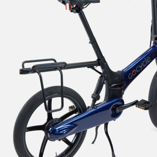 Gocycle G4 rear luggage rack displayed on a Gocycle G4 electric bike
