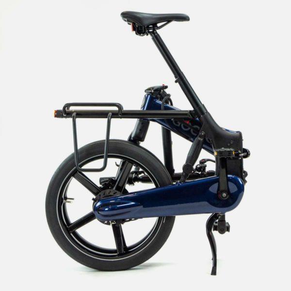 Gocycle G4 rear luggage rack on a folded Gocycle G4 electric bike