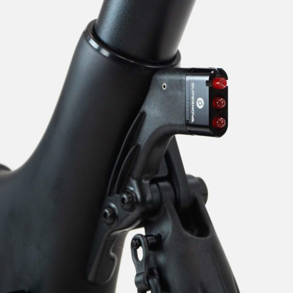 Gocycle G4 rear light mounted to a Gocycle G4 electric bike
