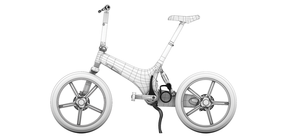 Gocycle comes with a kickstand, folding ability and a cable lock.