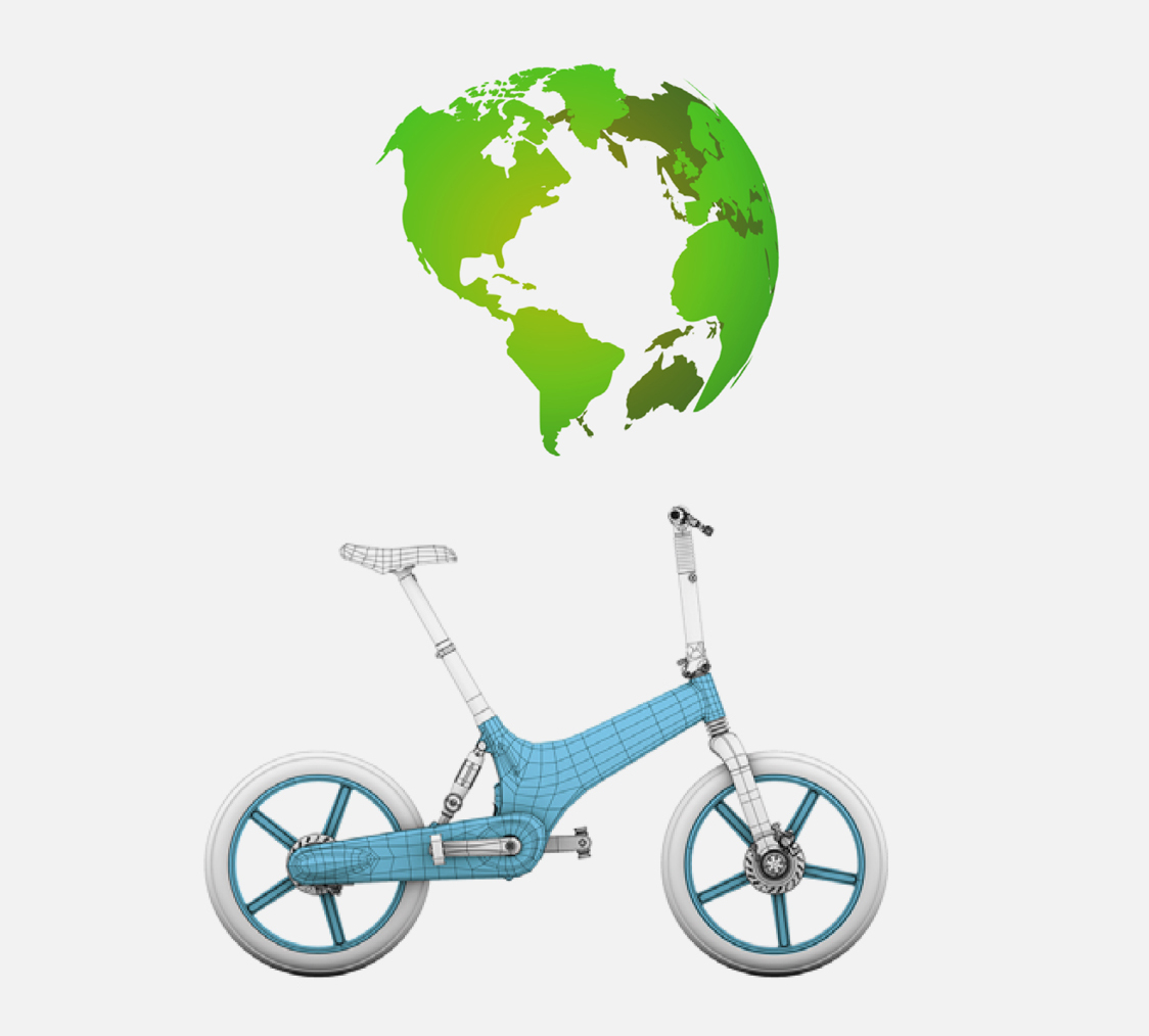 Gocycle is the only electric bicycle in the world to have an injection moulded magnesium frame and wheels which is more environmentally friendly than die casting and is also recyclable.