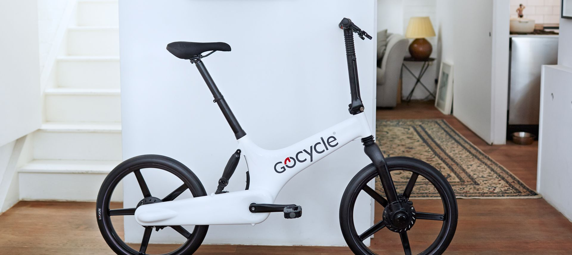 The clean design of the Gocycle is easy to live.
