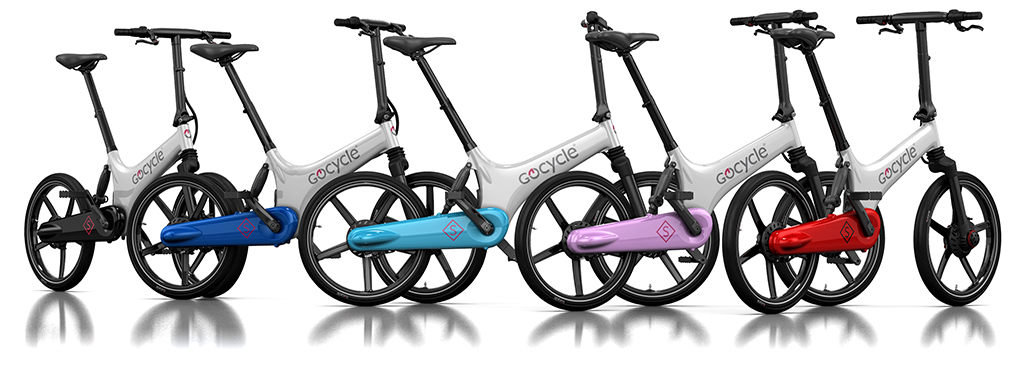 The Gocycle GS is available in a range of cool colour combinations.