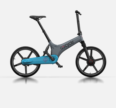 Picture of the new Gocycle GS model which is available in a wide range of cool colours. It's a lightweight electric bike.