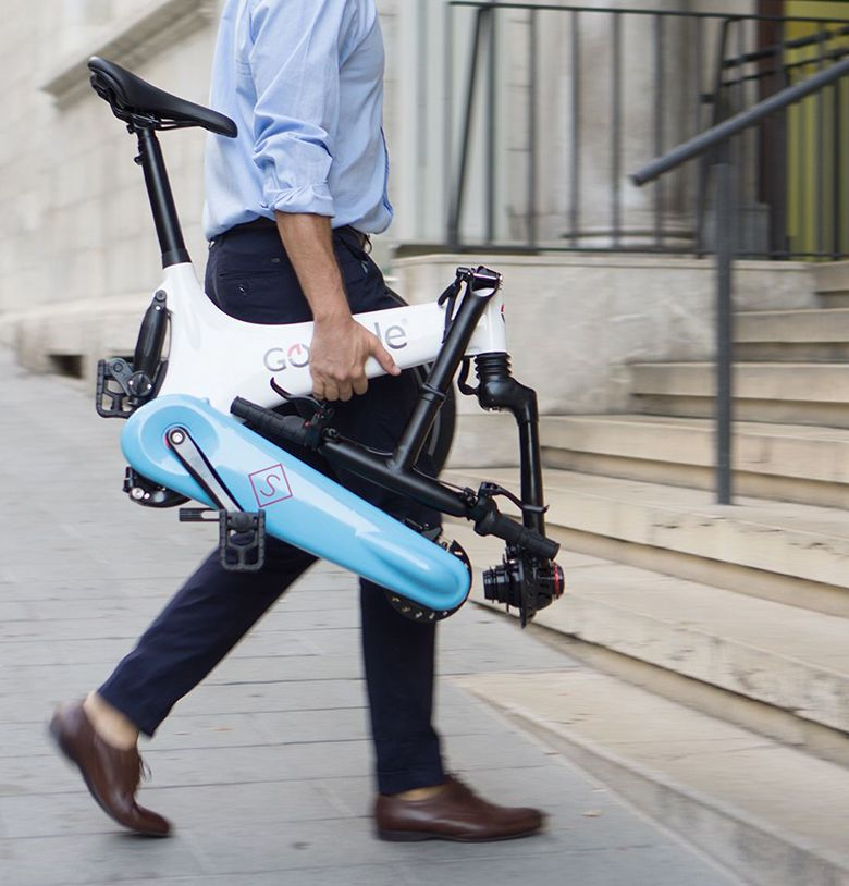 Gocycle GS is a lightweight electric bike and easy to carry. The GS model is a foldable electric bike.