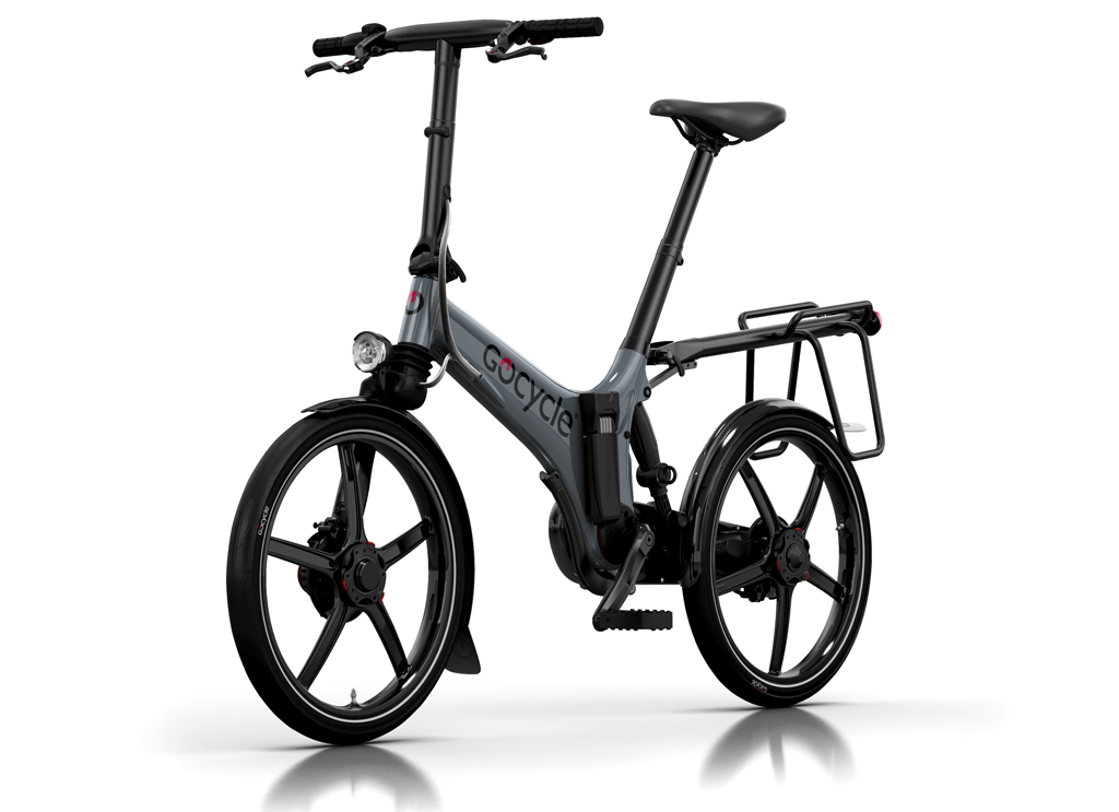 The Gocycle GS is the best commuter electric bike. It has lights, mudguards, an integrated sold secure silver rated abus lock, a rear luggage rack for bike panniers to.