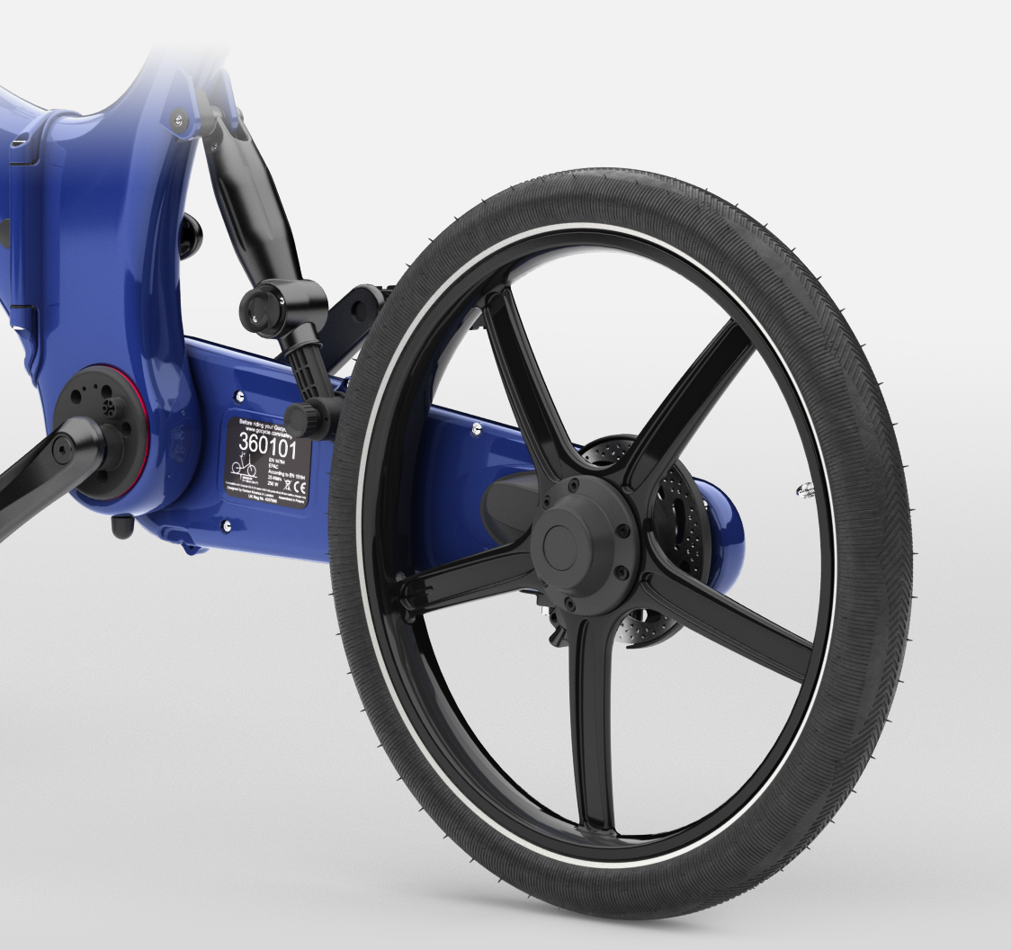 The patented Pitstopwheels are side mounted and easy to remove. It make fixing a flat tire simple and fitting the product into your car or folding it down easy.