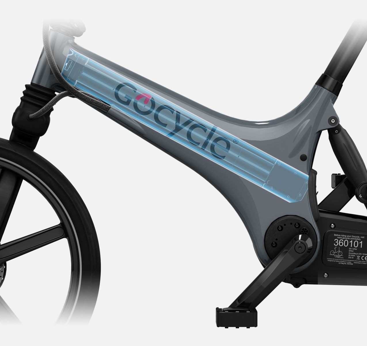 Daytime Running Lights became mandatory on all European cars in 2012 and the Gocycle G3 is the only production electric bicycle to have a daytime running light using proprietary automotive inspired light-pipe technology like a car.